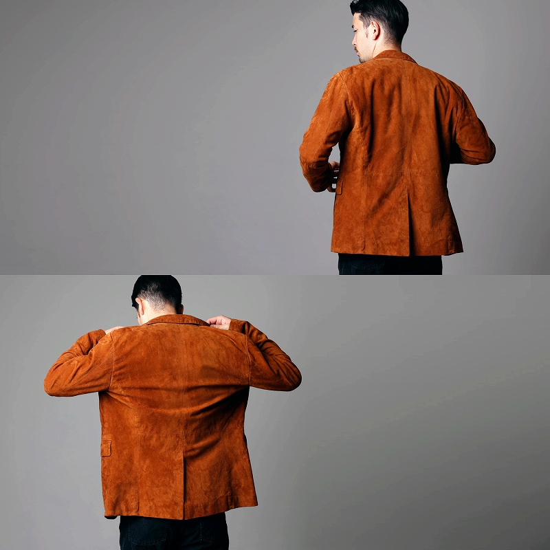 Mo-Laws 山羊革 テーラードジャケット 2つボタン MLJK008