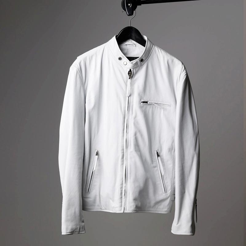 ラムレザージャケット メンズ ホワイト mlrj0111white